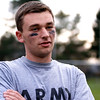 """Phil O'Connor, a senior at Swampscott High School, discusses """"no homework days"""" while coaching powder puff football on Monday, November 14. Item Photo / Angela Owens."""