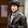 Emma Goodman plays Amelia Earheart for students at E.J. Harrington School on Tuesday, November 15. Item Photo / Angela Owens.