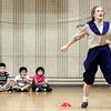 Emma Goodman plays a young Amelia Earheart for students at E.J. Harrington School on Tuesday, November 15. Item Photo / Angela Owens.