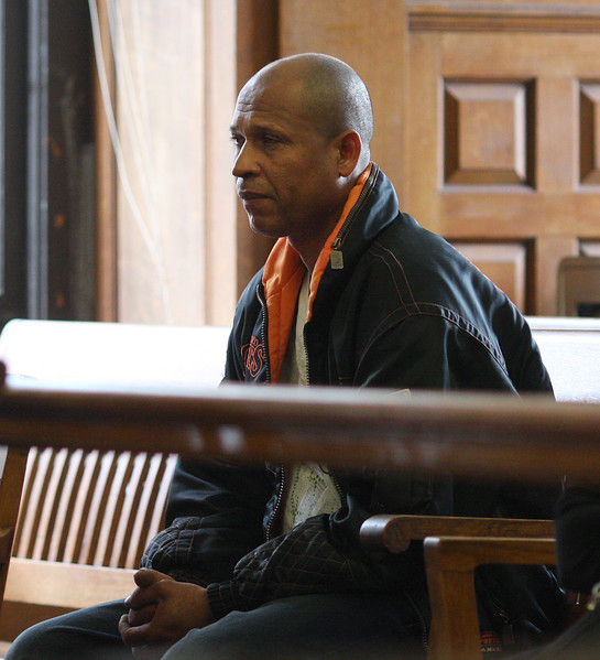 A member of audience watching the Arias trial in Salem Superior Court today.
