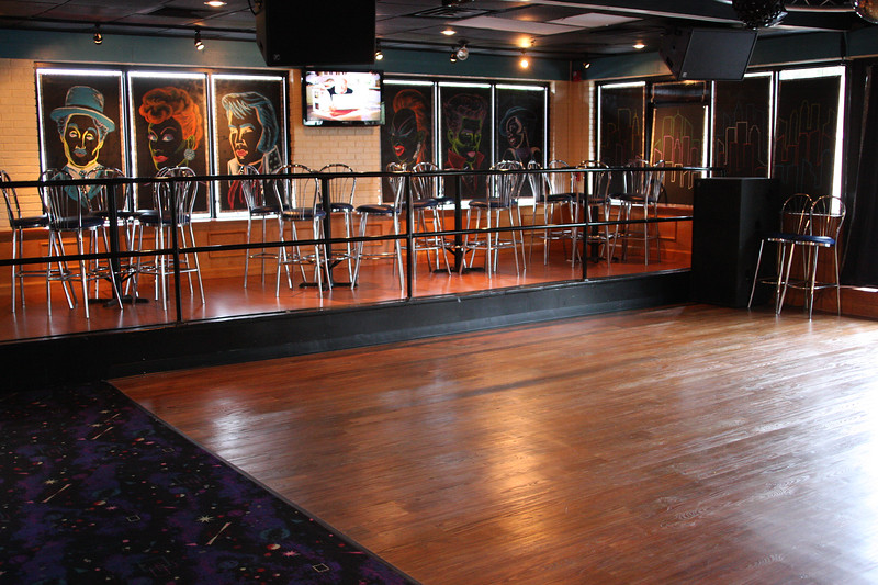 Dance floor and seating.