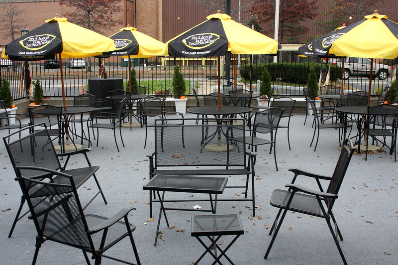 The patio is one of the featured attractions at the Northern Nights.