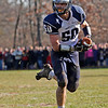 Swampscott's Mark Lausier (50) carries the ball during their game against Marblehead at Christopher Piper Field in Marblehead on Thursday, November 24. Item Photo / Angela Owens.