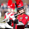 The Marblehead marching band performs during half time of the Marblehead-Swampscott Thanksgiving rivalry game at Christopher Piper Field on Thursday, November 24. Item Photo Angela Owens.