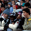 Marblehead fans have some fun in the stands during the Thanksgiving game against Swampscott at Christopher Piper Field in Marblehead on Thursday, November 24. Item Photo / Angela Owens.