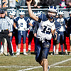 Swampscott's Michael Walsh (13) makes a pass during their game against Marblehead at Christopher Piper Field in Marblehead on Thursday, November 24. Item Photo / Angela Owens.