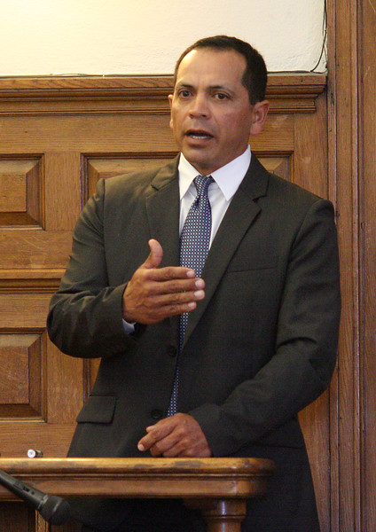 Geovanni runao takes the stand in his own defense in Salem Superior Court today.