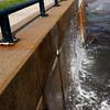 During high tide on Wednesday, September 28, waves crash against the sea wall along Lynn Shore drive. By Angela Owens.