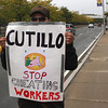 Hamza Bakkal is a welder owed thirty-seven dollars by his old boss, Cutillo. He is now protesting on the Lynnway.