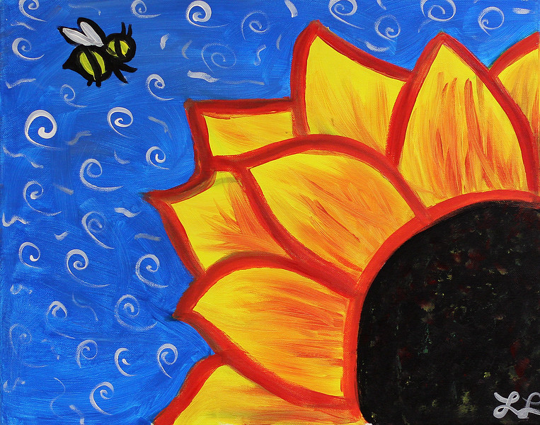 Laureen LoGuidice, the Special Education Chair, painted this and donated it to the parent cafe at the Ingalls Elementary School in Lynn.