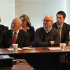 Members of the Lynn Business Partnership listening and watching the waterfront presentation by James Cowdell today. Photo by Owen O'Rourke