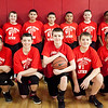 The Sacred Heart School boys basketball team, (front row, from left) Terrence Abreu, Chase Buono, Jonathan Nicosia, Darryl Matvichuk, Chauncey Williams, (back row) Jeffrey Hill, Jacob Blais, Chance Buono, Maurice Sequeira, Kyle Rucker, Matthew Devin, and Diego Lopez pose for a photo at the Sacred Heart gym on Thursday, March 14. Item Photo / Angela Owens.