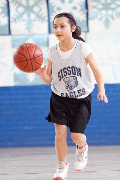Sisson's Isabelle McGaughey (10) dribbles down the court during their game at Pickering on Thursday, March 14. Item Photo / Angela Owens.