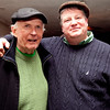 Fred Cronin and Jim Toomey pose for a photo at the Friendly Knights of St. Patrick dinner Old Tyme Restaurant on Thursday, March 15. Item Photo / Angela Owens.