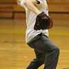 Kordel Henriquez pitching during baseball practice at St. Mary's in Lynn. Photdo by Owen O'Rourke