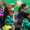 Second grade students Chloe Cieslewicz, Ava Brecken-Cruz, Abby Zonnella, and April Sun, experience Google Expedition at the Huckleberry Hill Elementary School in Lynnfield today. Photo by Owen O'Rourke