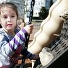 Erika Richard, 5, climbs on the playground at a Swampscott park on Thursday, March 8. Item Photo / Angela Owens.