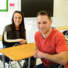Saugus. Pioneer Charter School Saturday Classes.<br /> Teachers Chelsey Cole, ELA, and Kyle Teves, Special Ed.