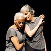 "Lynn, Lynn Arts, The Elders Ensemble of Prometheus Dance.  Dancers  rt. Dorothy Elizabeth Tucker, 92 years old is the oldest member of the troupe, Medford, and rt. Karen Klein of Cambridge preform ""Escape Artist"" The company is based in Cambridge, MA.  and does outreach to elder communities."