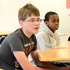 Saugus. Pioneer Charter School Saturday Classes.<br /> lft. Jonathan Ellis, Lynn, and rt. Carl Thomas, Saugus, two students in the Saturday classes.