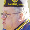 ITEM PHOTO/JONATHON M. WHITMORE<br /> <br /> Doug Cooper at the first of three Veterans Day events in Saugus on Sunday.