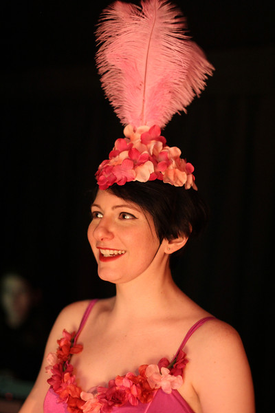 Cari Keebaugh plays the ballet girl in the North Shore Community College production of Elephant's Graveyard at Lynn Arts black box theatre. Photo by Owen O'Rourke