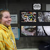 Rachel McCarthy is one of the 15 Swampscott Middle School students in the photo club who is exhibiting her work in the school. Photo by Owen O'Rourke