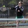 First doubles Lynn Classical High School tennis player Shea Dunnigan. Photo by Owen O'Rourke