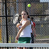 First singles Lynn Classical High School tennis player Anna Athanasopoulos playing against Sommerville. Photo by Owen O'Rourke