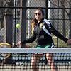 First doubles Lynn Classical High School tennis player Briana Silva. Photo by Owen O'Rourke
