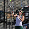 Second singles Lynn Classical High School player Meredith MacDonald playing aganist Sommerville. Photo by Owen O'Rourke
