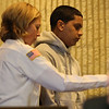 Kevin Sanchez at his arraignment in Lynn District Court today.