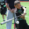 Brian Fajardo at the MLB hit and run and pitch competition at Fraser Field today. Photo by Owen O'Rourke