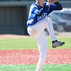 Danvers' Brandon Hyde (20) pitches during their game against Lynn English at Fraser Field on Thursday, April 24. Item Photo / Angela Owens.