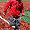 Haidar Bdaiwi during the MLB pitch, hit, and run competition at Fraser Field today. Photo by Owen O'Rourke