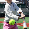 Janessa Lopez at the MLB hit, itch and run competition at Fraser Field today Photo by Owen O'Rourke