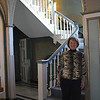 Dr. Denise Hammon, the current President of Marian Court College in Swampscott, and some of the gorgeous architecture in the mansion portion of the college. Photo by Owen O'Rourke