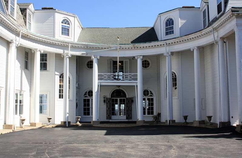 The front entrance to Marian Court College in Swampscott. Photo by Owen O'Rourke