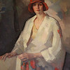 Portait of Lillian Shores, the first female Town Clerk and Tax Collector in Saugus,1927, hangs in the Saugus Town Hall.