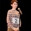 "Lynn, City Hall Auditorium.<br /> Thomas Mayer, grade 8, Acera School, Melrose. Working to spell the word ""oolong"""
