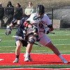 Manning Sears of Marblehead has a grip on Jason Dignan of Swampscott during their game in  Marblehead today.