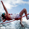 Saugus High School's Breana Evans competes in the high jump during the track meet against Marblehead on Wednesday, April 4. Item Photo / Angela Owens.