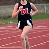 Marblehead's Molly Sweeney runs the one-mile during the track meet against Saugus on Wednesday, April 4. Item Photo / Angela Owens.