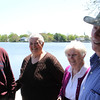 From left to right: Ernie Carpenter, Ann Capenter, Delores Starratt, and James Starratt on Flax Pond. Photo by Owen O'Rourke