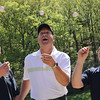 From left to right: Bob Calder, Paul Calder, and Bob Blacksidge are in the 19th year of the Calder golf tourney at Gannon Golf Course this June. Photo by Owen O'Rourke