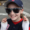 Amanda Tobin was ready to march in the Wyoma Little League opening day parade on Saturday. Photo by Owen O'Rourke