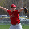 Babe Ruth pitcher David Barnard in action on Saturda against dthe Orioles. Photo by Owen O'Rourke