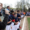 Sarah Barnard sung the Nathional Anthem at the Wyoma Little League opening day on Saturday. Photo by Owen O'Rourke