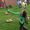 Sophie DeGrande hits the very first pinata of the day at the Cinco de Mayo party at the Johnson School in Nahant on Saturday May5.