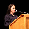 Antonia Vinciarelli, St. Mary's class of 2015, was the student speaker at the Catholic School partnership assembly at the Lynn City Hall auditorium today. Photo by Owen O'Rourke